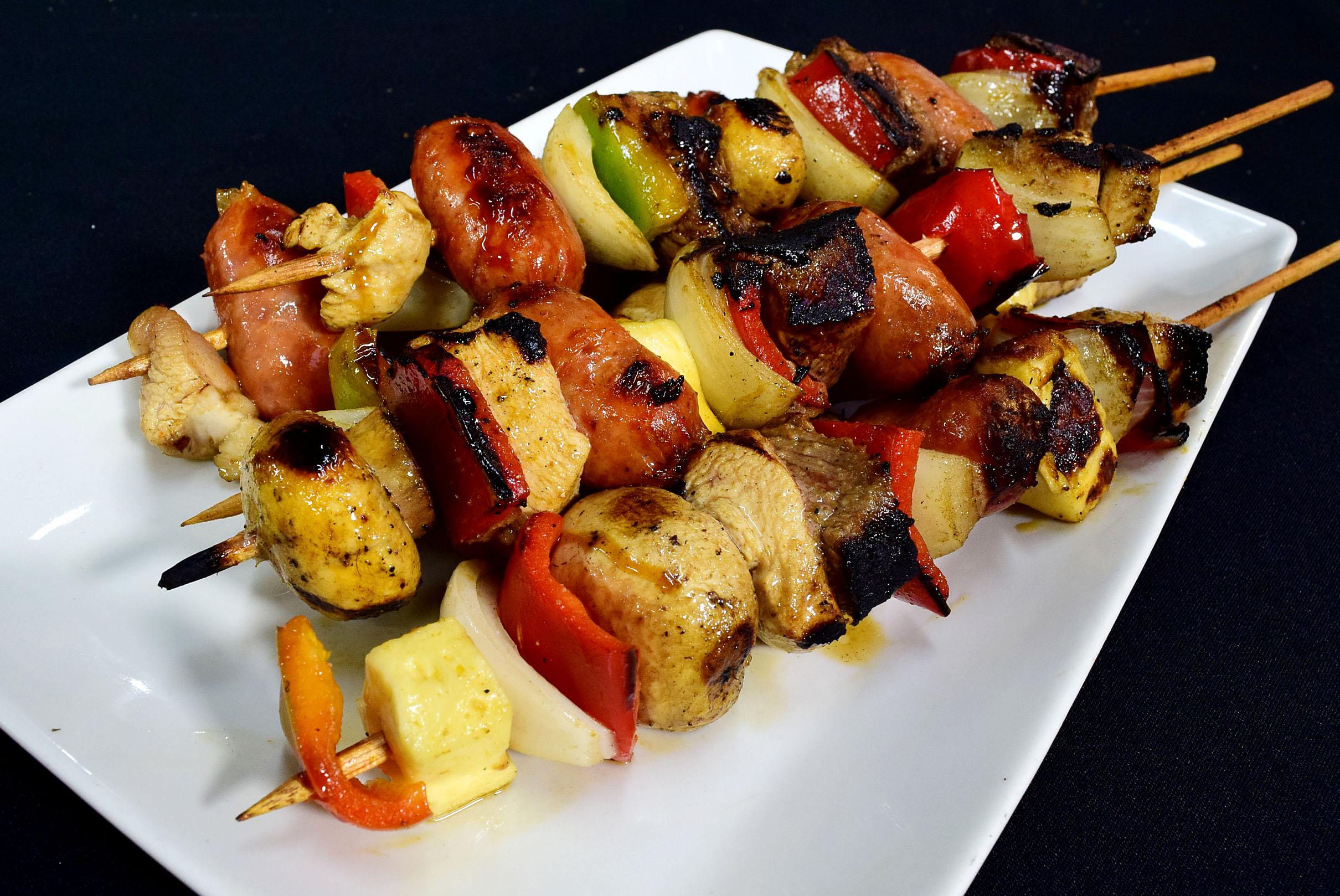 recetas de pinchos de pollo y res